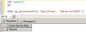 Verificando status do serviço SQL Server Agent