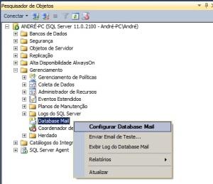Como habilitar o envio de e-mail no sql server