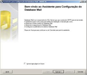Primeiro passo para configurar o database mail do sql server